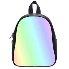 Multi Color Pastel Background School Bags (small)