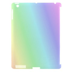 Multi Color Pastel Background Apple iPad 3/4 Hardshell Case (Compatible with Smart Cover)