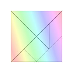 Multi Color Pastel Background Acrylic Tangram Puzzle (4  X 4 )