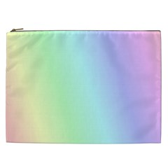 Multi Color Pastel Background Cosmetic Bag (XXL)