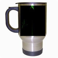Nautical Star Green Space Light Travel Mug (silver Gray)