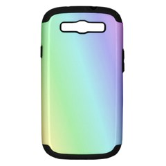Multi Color Pastel Background Samsung Galaxy S III Hardshell Case (PC+Silicone)