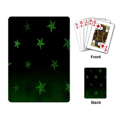 Nautical Star Green Space Light Playing Card