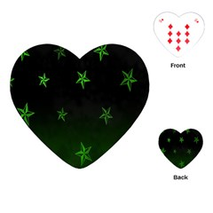 Nautical Star Green Space Light Playing Cards (Heart)
