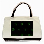 Nautical Star Green Space Light Basic Tote Bag (Two Sides) Back