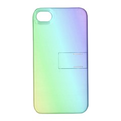 Multi Color Pastel Background Apple Iphone 4/4s Hardshell Case With Stand