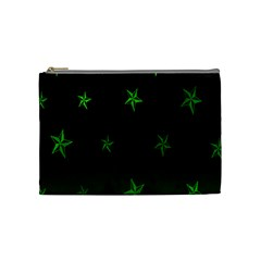 Nautical Star Green Space Light Cosmetic Bag (Medium)