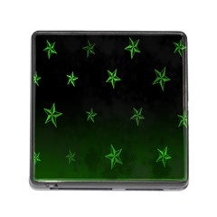Nautical Star Green Space Light Memory Card Reader (square)