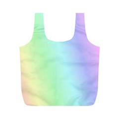 Multi Color Pastel Background Full Print Recycle Bags (M)
