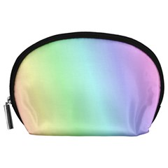 Multi Color Pastel Background Accessory Pouches (Large)