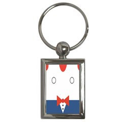 Peppermint Butler Wallpaper Face Key Chains (Rectangle)