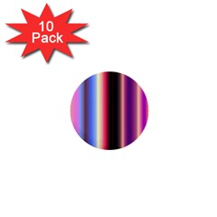 Multi Color Vertical Background 1  Mini Buttons (10 pack)
