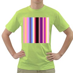 Multi Color Vertical Background Green T-Shirt