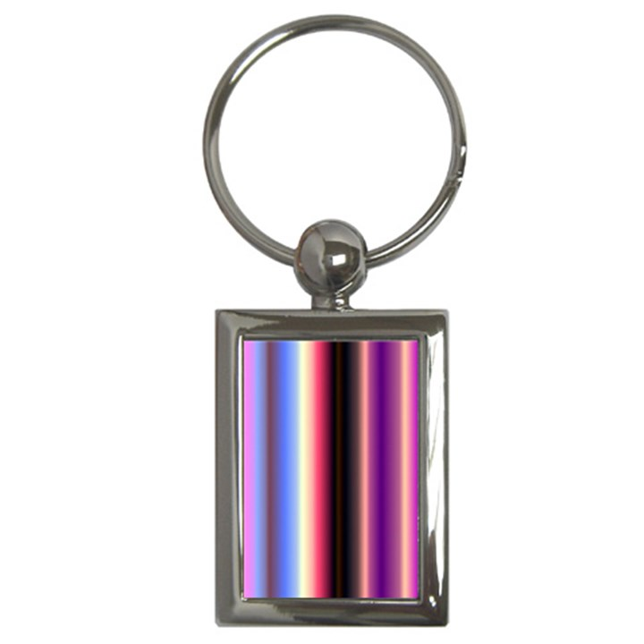 Multi Color Vertical Background Key Chains (Rectangle)