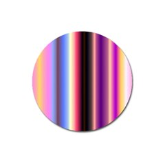 Multi Color Vertical Background Magnet 3  (Round)