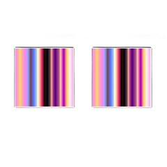 Multi Color Vertical Background Cufflinks (square)