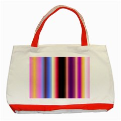 Multi Color Vertical Background Classic Tote Bag (red)