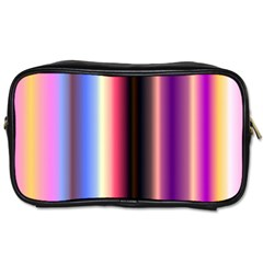 Multi Color Vertical Background Toiletries Bags