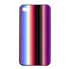 Multi Color Vertical Background Apple iPhone 4/4s Seamless Case (Black)