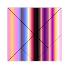 Multi Color Vertical Background Acrylic Tangram Puzzle (6  x 6 )