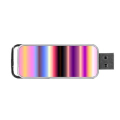 Multi Color Vertical Background Portable USB Flash (One Side)