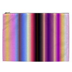 Multi Color Vertical Background Cosmetic Bag (XXL)