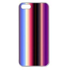 Multi Color Vertical Background Apple Seamless iPhone 5 Case (Clear)