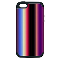 Multi Color Vertical Background Apple iPhone 5 Hardshell Case (PC+Silicone)