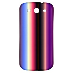 Multi Color Vertical Background Samsung Galaxy S3 S III Classic Hardshell Back Case