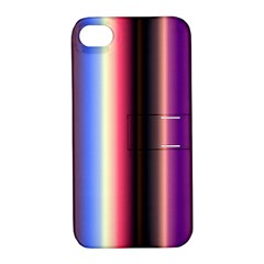 Multi Color Vertical Background Apple iPhone 4/4S Hardshell Case with Stand