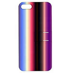 Multi Color Vertical Background Apple iPhone 5 Hardshell Case with Stand