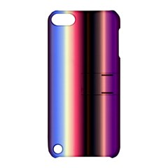 Multi Color Vertical Background Apple iPod Touch 5 Hardshell Case with Stand