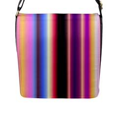 Multi Color Vertical Background Flap Messenger Bag (L)