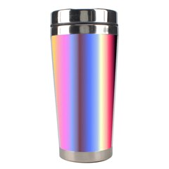 Multi Color Vertical Background Stainless Steel Travel Tumblers