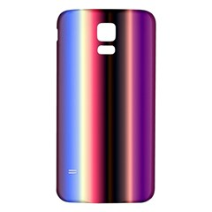 Multi Color Vertical Background Samsung Galaxy S5 Back Case (White)