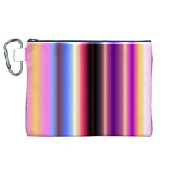 Multi Color Vertical Background Canvas Cosmetic Bag (XL)