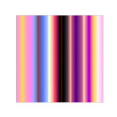 Multi Color Vertical Background Small Satin Scarf (Square)
