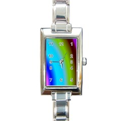 Multi Color Stones Wall Multi Radiant Rectangle Italian Charm Watch