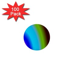 Multi Color Stones Wall Multi Radiant 1  Mini Buttons (100 Pack)