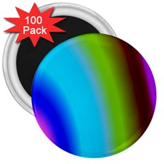 Multi Color Stones Wall Multi Radiant 3  Magnets (100 Pack)