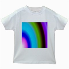 Multi Color Stones Wall Multi Radiant Kids White T-Shirts