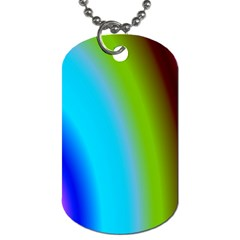 Multi Color Stones Wall Multi Radiant Dog Tag (One Side)