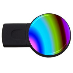 Multi Color Stones Wall Multi Radiant Usb Flash Drive Round (2 Gb)
