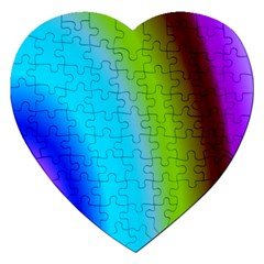Multi Color Stones Wall Multi Radiant Jigsaw Puzzle (heart)