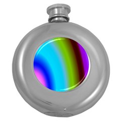 Multi Color Stones Wall Multi Radiant Round Hip Flask (5 oz)
