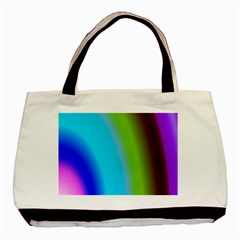 Multi Color Stones Wall Multi Radiant Basic Tote Bag (two Sides)