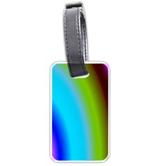 Multi Color Stones Wall Multi Radiant Luggage Tags (two Sides)