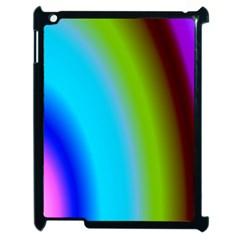 Multi Color Stones Wall Multi Radiant Apple iPad 2 Case (Black)