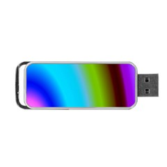 Multi Color Stones Wall Multi Radiant Portable USB Flash (One Side)