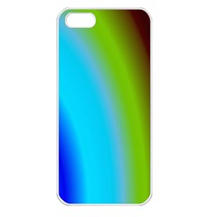 Multi Color Stones Wall Multi Radiant Apple iPhone 5 Seamless Case (White)